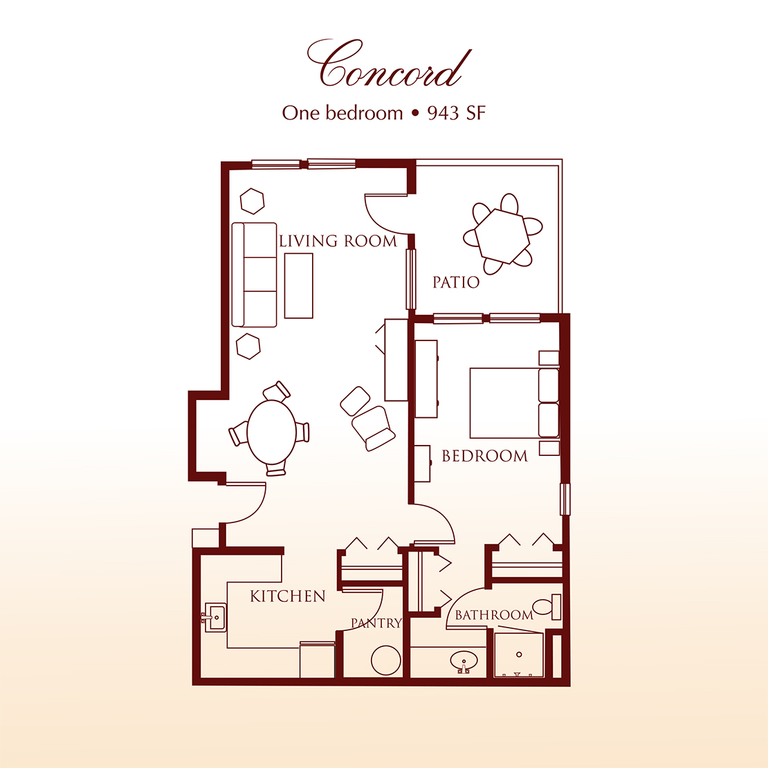 The Concord One Bedroom Suite at DeTray's Colonial Inn