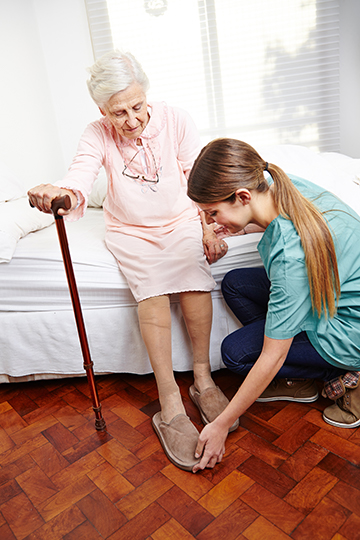 Photo - a personal assistant provides support to a resident
